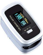 Mpow Pulsossimetro, Saturimetro da dito Display OLED, 4 Girevoli Direzioni e 5 Luminosità Regolabili, Letture Immediate e Consecutive per La Saturazione di Ossigeno(SpO2) e Frequenza Del Polso(PR)