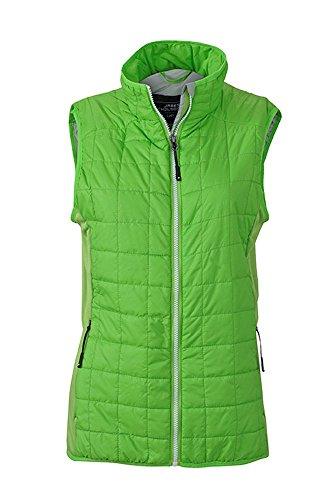 Chaleco en en muletón ligero mixado deporte de tejido Chaleco híbrido Mujer spring-green/silver