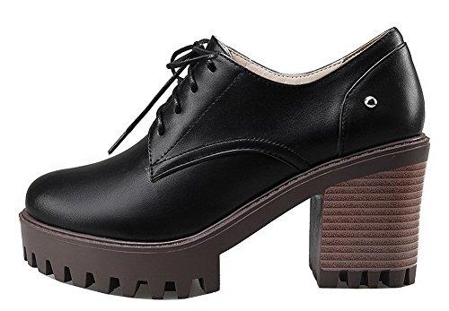 Schnürschuh Pumps Schwarz runde VogueZone009 PU Form Schuhe Damen qXxRSE