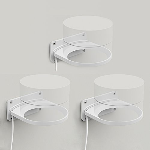 LykusSource Google WiFi Wall Mount Bracket, Signal as Good as Placed On the Table, Built-in Power Cord Organizer (3-Pack)