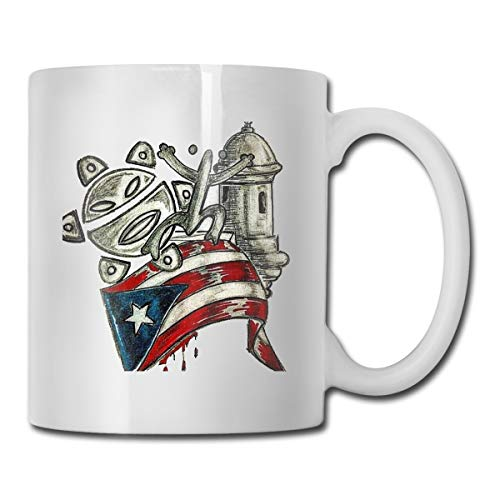 DILYLYCUP Puerto Rico Musicians Mug,Coffee Hot Beverage Cup,Stoneware Mug,Ceramic Coffee Cup,Tea Cup 11 Ounces Funny Gift Coffee Tea Mug (The Best Facts About Puerto Rico)