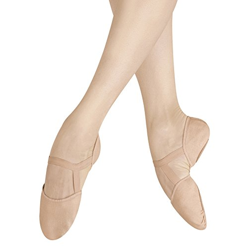 Bloch Womens Elastosplit PI Canvas Ballet Shoes, Pink, Canvas