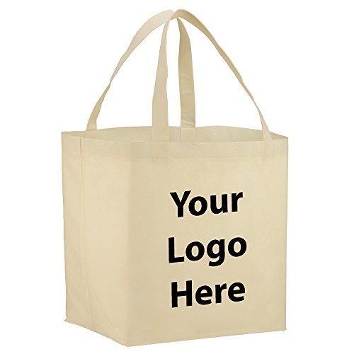 Sunrise Identity YaYa Budget Shopper Tote - 200 Quantity - 1.15 Each - PROMOTIONAL PRODUCT/BULK with YOUR ()