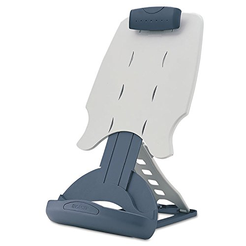 Kensington Insight Desktop Paper - Kensington 62058 Insight Adjustable Desktop Copyholder, Plastic, Holds 50 Sheets, Gray/Dark Blue