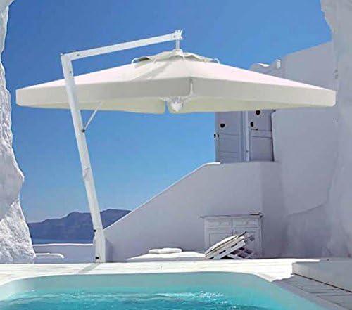 Sombrilla – Napoli redondo 3.5 M acrílico dralón 350 g/m2 + pie cemento gres con asas – 80 kg: Amazon.es: Hogar