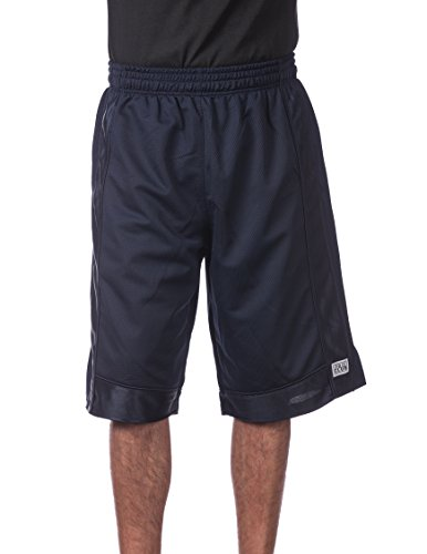 College Basketball Mesh Shorts - Pro Club Men's Heavyweight Mesh Basketball Shorts, 4X-Large, Navy