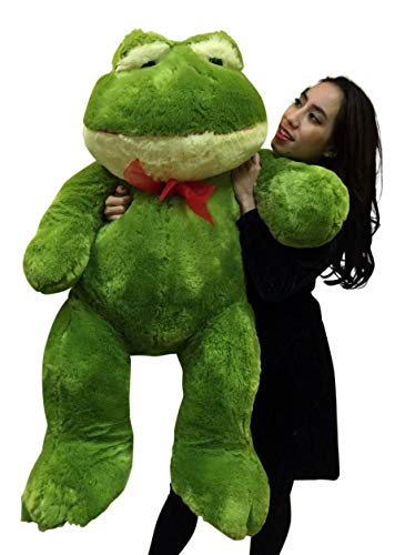 (Big Plush Giant Stuffed Frog 48 Inches Soft Green Color 4 Foot Animal)