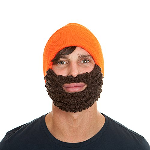The Original Beard Beanie Lumberjack Style-Hunter Orange/Brown