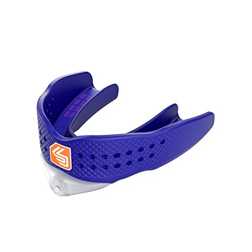 Hockey Low Stick - Shock Doctor Mouthguard Superfit – Easy-Fit Strap/Strapless mouthguard – Low Profile Fit Perfect for Basketball, Hockey, Lacrosse, All Sport