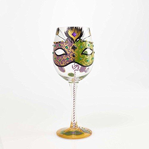 Masquerade Glass (Lolita by Enesco Mardi Gras Wine)