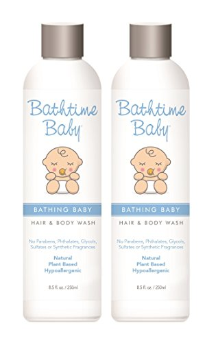 Organic Fruit Therapy Shampoo (Bathtime Baby Natural Body Wash & Shampoo – Toxin Free, Sulfate Free, Paraben Free, No Artificial Fragrances, Hypoallergenic – 8.5 oz (2-Pack))