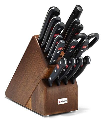 Wüsthof 8516-3 Wusthof Gourmet Knife Block Set, One Size, Black, Stainless (Wusthof Acacia Knife Block)