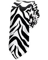 TopTie Unisex Zebra Animal Print Skinny 2 Inch Necktie Tie, Discount NeckTies