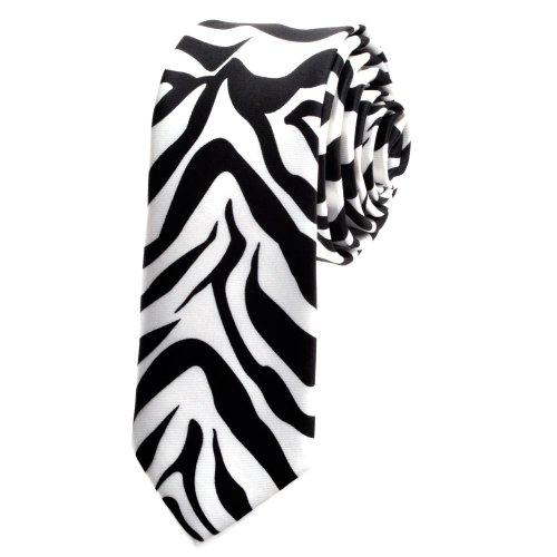 TopTie Unisex Zebra Animal Print Skinny 2 Inch Necktie Tie, Discount NeckTies - Ties Discount Neckties