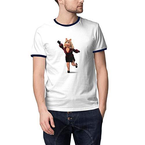 Migny Hills Men's Comfortable Short Sleeve T-Shirt Cotton Crew Neck Cotton Shirt for ()