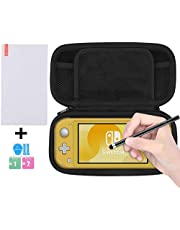 BUBM Carrying Case for Nintendo Sswitch Lite 2019 Hard Shell Case for Switch Lite Console and accessories [screen Protector,Stylus Pen Include]