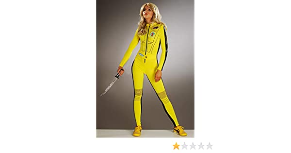Struts Disfraz de Mono Amarillo Kill Bill para Mujer Small (UK 8 ...