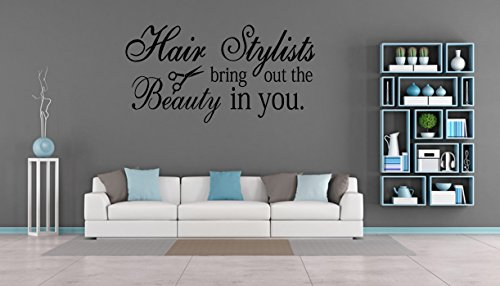 Inspiration Art Wall Decal Hair Salon Stylists The Beauty Quote Vinyl Shop Decor (FA49) (40