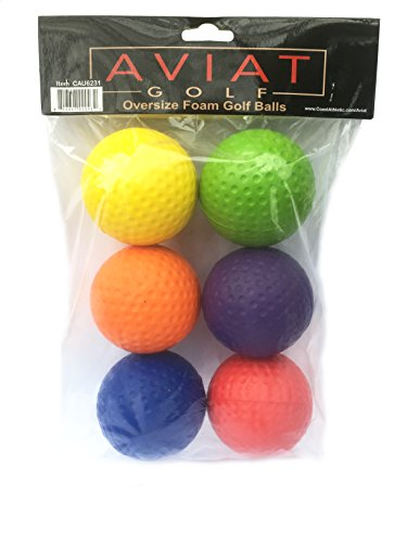 Coast Athletic Brands Aviat Multicolor Oversize Foam Golf Balls | Kids Large Golf Balls | Childrens Learning Golf Balls