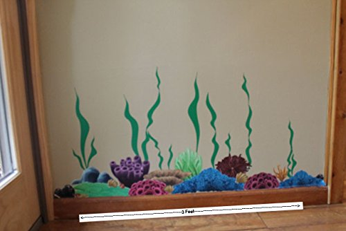 Create-A-Mural Coral & Seaweed, Ocean Wall Decals, Undersea Wall Decor Stickers for Kids Room ~ (34) Sea Wall Stickers by Create-A-Mural (Image #3)