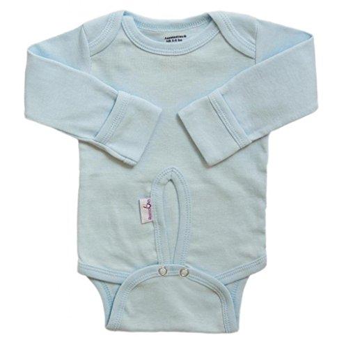 - Assessables Umbilical Newborn Bodysuit for Babys Cord 100% Cotton (Blue) (Blue)
