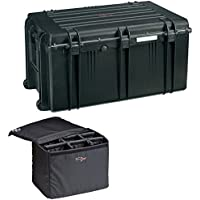 Explorer Cases 7641KTBQ 7641 Case with Custom Removable Padded Divider Bag for Cameras or Similar Electronic Gear and Organizer Lid Panel (Black)