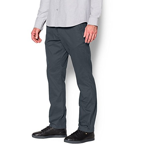 Under Armour Men's Performance Chino – Tapered Leg, Stealth Gray/Stealth Gray, 38/34