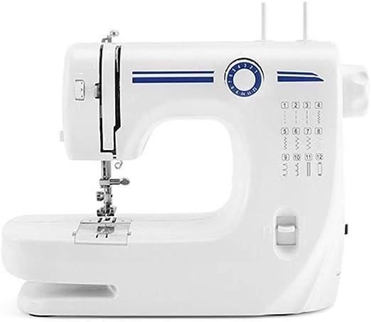 TONGSH Heavy Duty máquina de Coser 2 12 Puntos de sutura Aguja Doble Overlock Máquina de Coser Alambre Perfecto for ...