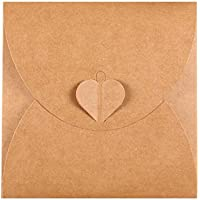 Retro Love CD DVD Kraft Paper Sleeves Envelope from Ocharzy (100 Pack, A)