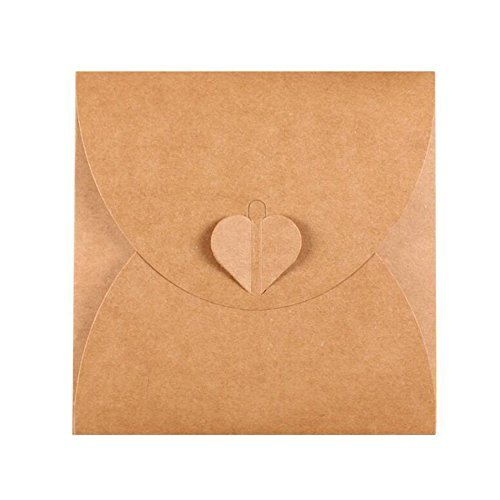 Retro Love CD DVD Kraft Paper Sleeves Envelope from Ocharzy (50 Pack, A) Affordable Wedding Cd Favors