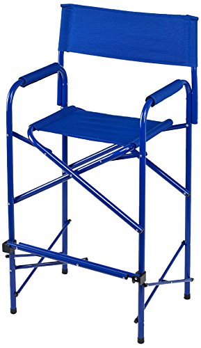 E-Z UP Directors Chair, Tall, Blue (New Folding Directors Chair)