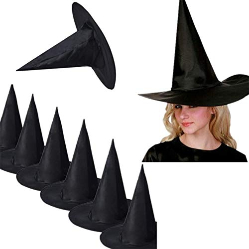 CORATO Halloween Hats and caps 10Pcs hat Hats caps Black Witch Hat for Halloween Costume Accessory Cap Women Men