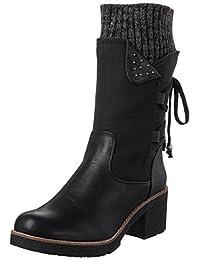 Rieker Women Boots black, (schw/schw/black-grey) 99673-00