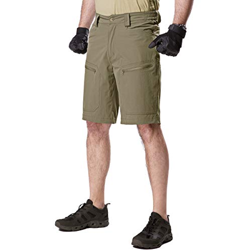 - FREE SOLDIER Men's Cargo Shorts Ultralight Quick Dry Stretch Short Nylon Tactical Pants Shorts (Mud, 38W)