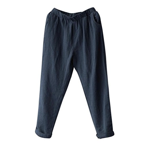 Old Athletic Sweatpants Navy (Plus Size Pants for Women, FORUU Linen Harem Baggy Loose Trousers Casual Lady (L, Navy))