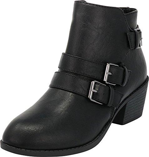 Black Moto Booties - 8
