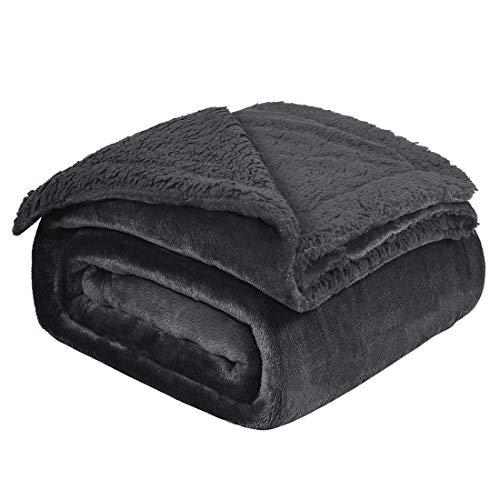 uxcell Thick Blanket Fleece Reversible
