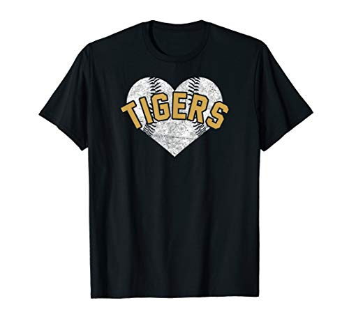 Tigers Baseball Softball Shirt High School Team Mascot Mom ()