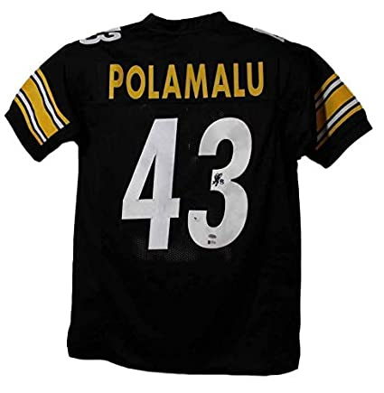 5c50865f7 Image Unavailable. Image not available for. Color  Troy Polamalu Signed  Jersey - XL Black BAS 22444 - Beckett Authentication - Autographed NFL  Jerseys