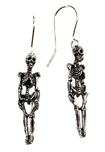 (Skeleton Earrings by Alchemy Gothic, England)