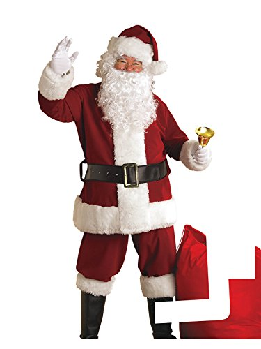 Rubie's Adult Deluxe Ultra Velvet Santa Suit With Gloves, Standard -