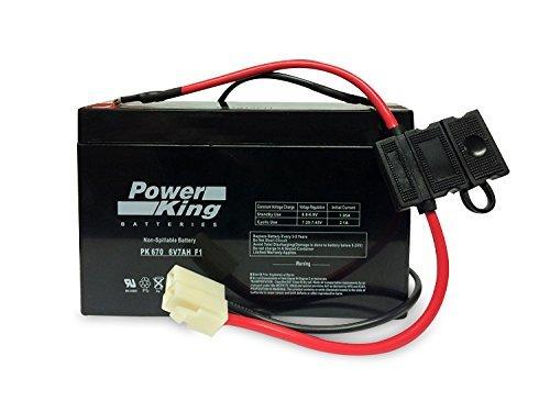 Replacement 6V 7AH Battery Includes Wire Connectors Avigo 6-Volt Mini Cooper, Avigo 6-Volt Audi R8 Spyder, Avigo 6-Volt Wildfire Quad, Avigo 6-Volt Mercedes Beiter DC Power