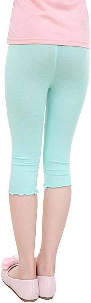 Shengshui Kinder M/ädchen Sommer Stretch Caprihose 3//4 Kurz Leggings Strumpfhose