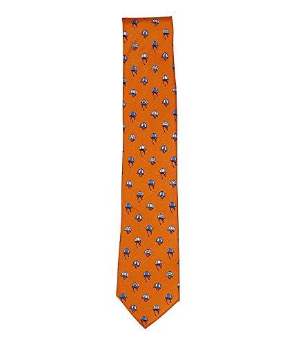 Tommy Hilfiger Mens Helmet Necktie, Orange, One -