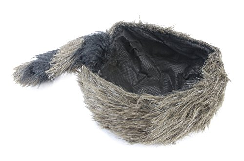 Well Pack Box Davy Crockett Daniel Boone Soft Raccoon Tail Hat Fake Fur - Powder Horn Costume Great for Halloween and Costume Parties by Well Pack Box (Image #4)