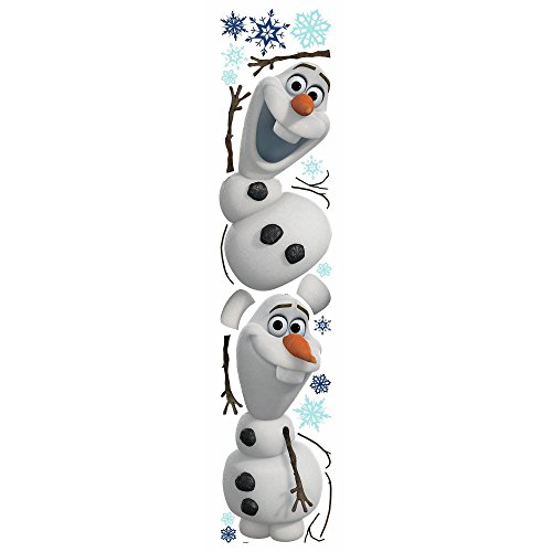 Wall Frozen Stick Peel Decals Giant Disney Olaf Pack Stickers Includes 25 peel and stick decals, These decals leave behind no sticky residue, Easy to handle and fun to use for boys and girls by RM43