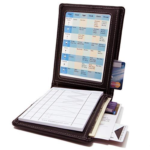 Waiter Wallet Deluxe | Waitstaff Organizer Book + Order Pad | Premium Stitched Durahyde ()