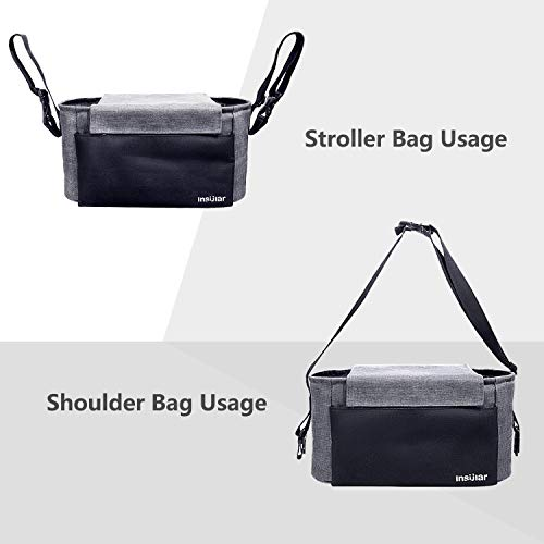 Universal Stroller Organizer Bag With 2 Cup Holders For