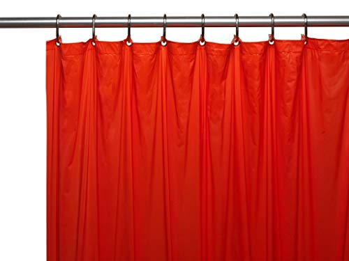 Hotel Collection Heavy Duty Mold & Mildew Resistant Premium PEVA Shower Curtain Liner with Rust Proof Metal Grommets - Assorted Colors (Christmas Red) (Shower Red)