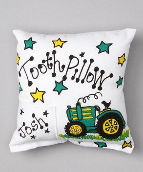 Personalized Tooth Fairy Pillow (Tractor Themed Kids Tooth Fairy Pillow)